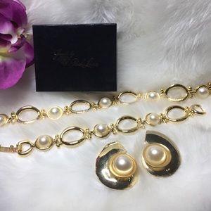 Park Lane vintage gold faux pearl set